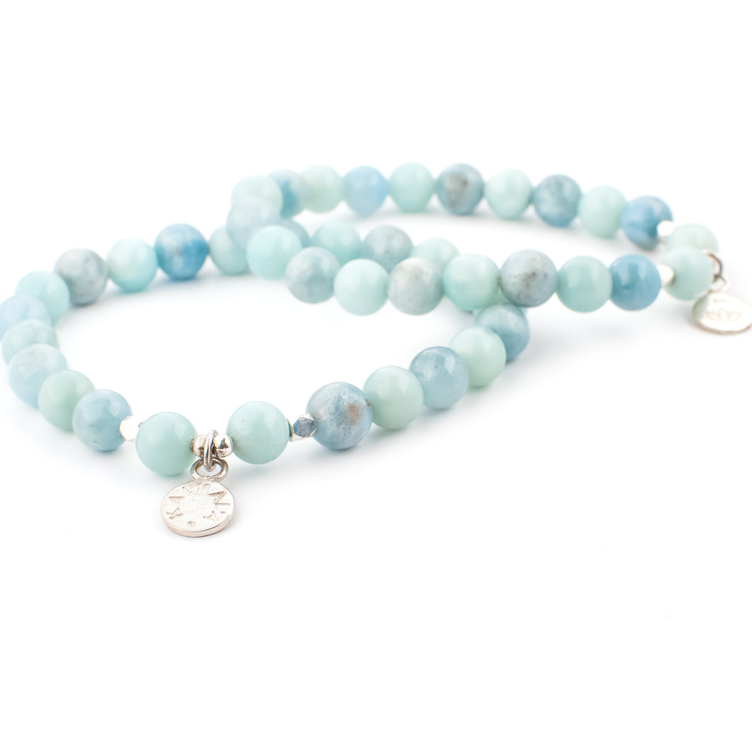 Amazonite and Aquamarine gemstone bracelet | KAIMALA jewels