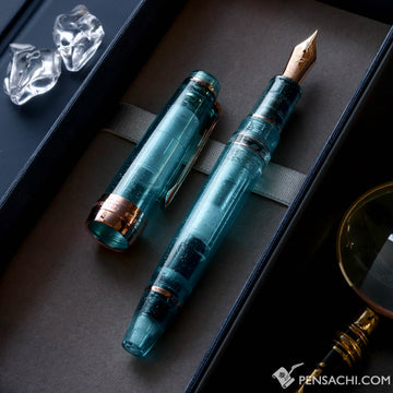 SAILOR LE Professional Gear Classic Realo Demonstrator Fountain Pen - Sparkling Turquoise - PenSachi Japanese Limited Fountain Pen