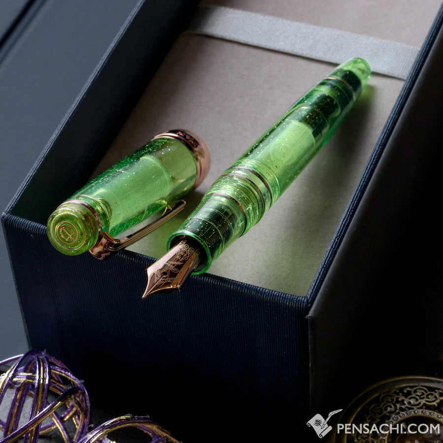 SAILOR LE Pro Gear Classic Realo Demonstrator - Sparkling Highlight Green - PenSachi Japanese Limited Fountain Pen