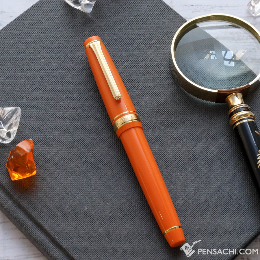 SAILOR Limited Edition Pro Gear Slim (Sapporo) Fountain Pen - Orange - PenSachi Japanese Limited Fountain Pen