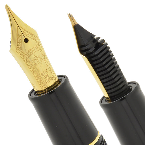 SAILOR 1911 Large (Full size) Naginata Togi Fountain Pen - Black Gold - PenSachi Japanese Limited Fountain Pen