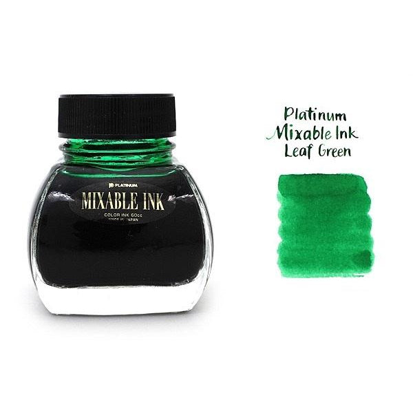 Platinum Mix Free Ink - Leaf Green - 60 ml - PenSachi Japanese Limited Fountain Pen