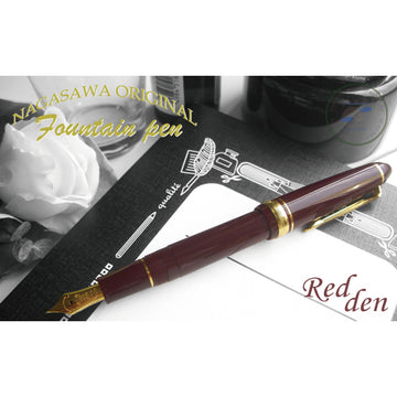 Sailor Limited Edition Profit Standard Gold Accents 14K Gold nib Fountain Pen - Redden