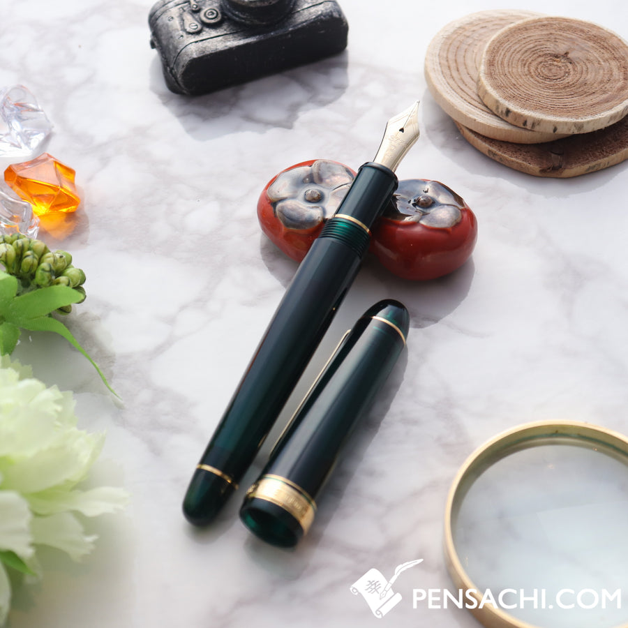PLATINUM #3776 Century Fountain Pen - Laurel Green - PenSachi Japanese Limited Fountain Pen