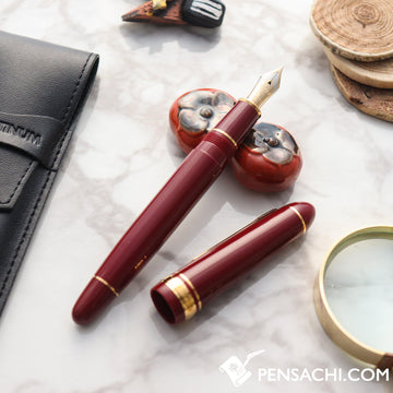 PLATINUM President Fountain Pen - Wine Red - PenSachi Japanese Limited Fountain Pen