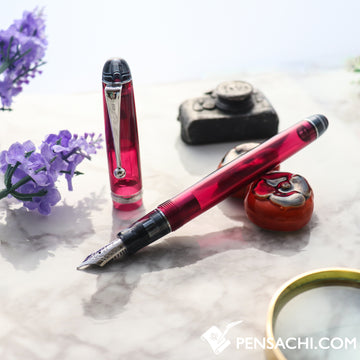 PILOT Custom 74 Fountain Pen - Demonstrator Wine Red - PenSachi Japanese Limited Fountain Pen