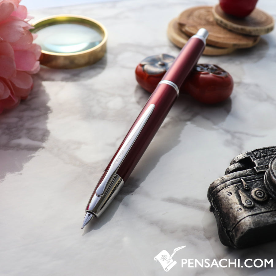 PILOT Vanishing Point Capless Decimo Fountain Pen - Red - PenSachi Japanese Limited Fountain Pen