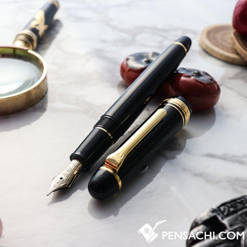 SAILOR Promenade Fountain Pen - Black Gold - PenSachi Japanese Limited Fountain Pen
