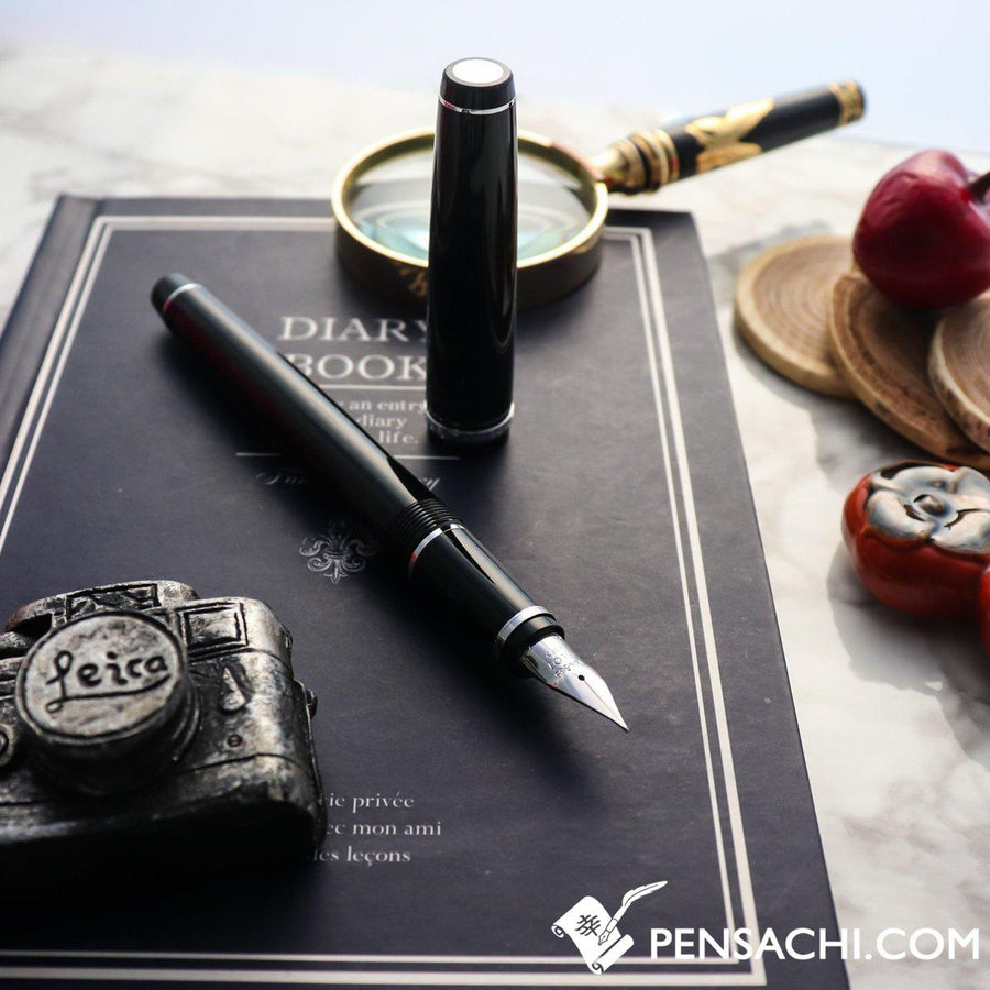 PILOT Falcon Elabo Resin Fountain Pen - Black - PenSachi Japanese Limited Fountain Pen