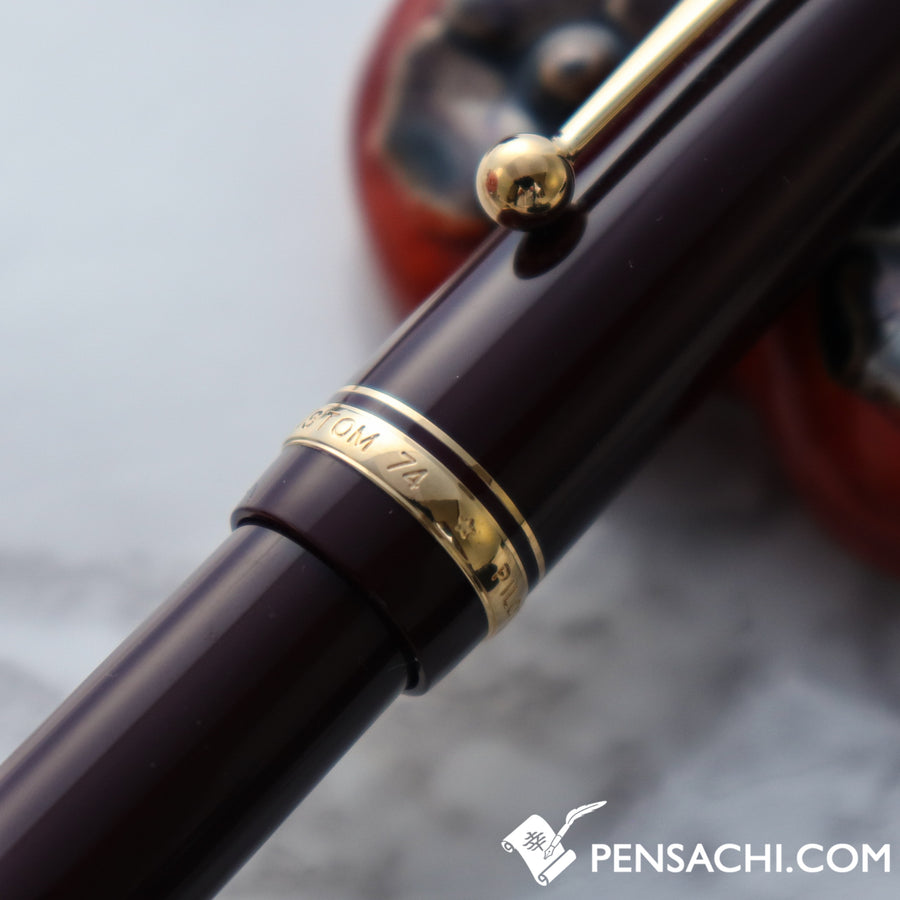 PILOT Custom 74 Fountain Pen - Deep Red - PenSachi Japanese Limited Fountain Pen