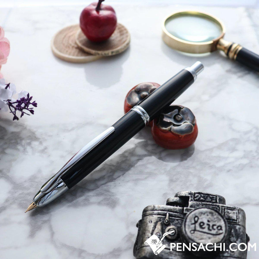 PILOT Vanishing Point Capless Special Alloy Fountain Pen - Black - PenSachi Japanese Limited Fountain Pen