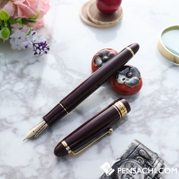 PILOT Custom 743 Fountain Pen - Deep Red - PenSachi Japanese Limited Fountain Pen