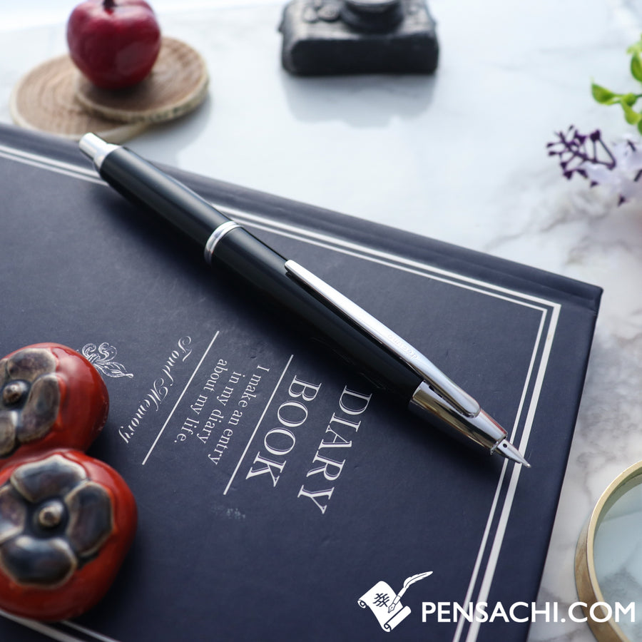 PILOT Vanishing Point Capless Decimo Fountain Pen - Black - PenSachi Japanese Limited Fountain Pen