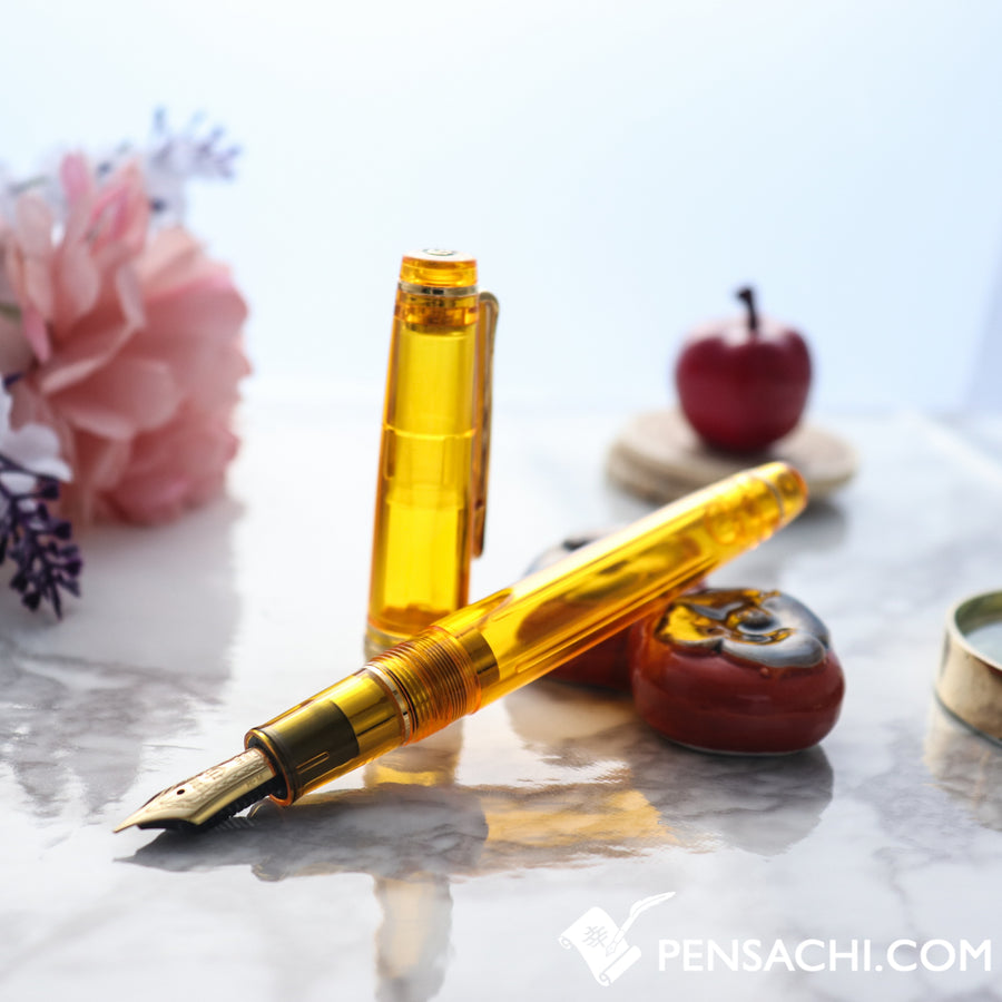 SAILOR Limited Edition Pro Gear Slim (Sapporo) Demonstrator Fountain Pen - Cyber Yellow - PenSachi Japanese Limited Fountain Pen