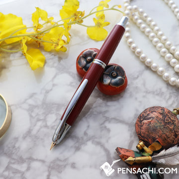 PILOT Vanishing Point Capless Special Alloy Fountain Pen - Deep Red - PenSachi Japanese Limited Fountain Pen