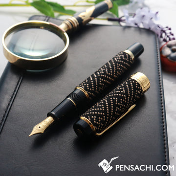 SAILOR Koshu Inden Fountain Pen - Black Saya Sheath - PenSachi Japanese Limited Fountain Pen