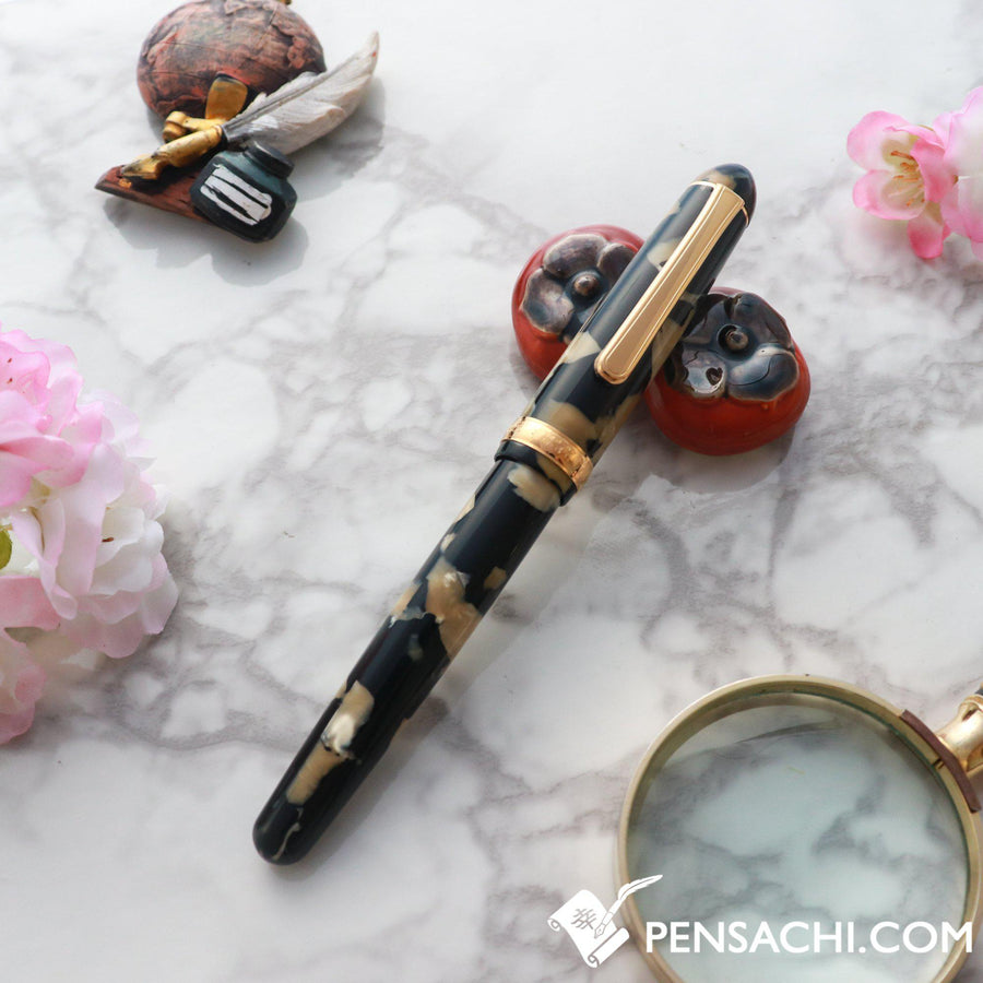 PLATINUM #3776 Century Celluloid Fountain Pen - Ishigaki Calico - PenSachi Japanese Limited Fountain Pen