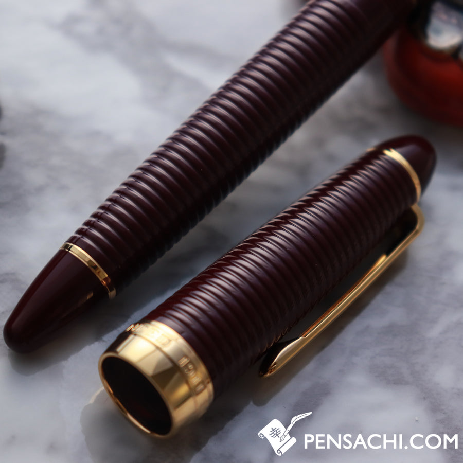 SAILOR 1911 Gathered Special Nib Old Design Naginata Concord Fountain Pen - Maroon - PenSachi Japanese Limited Fountain Pen