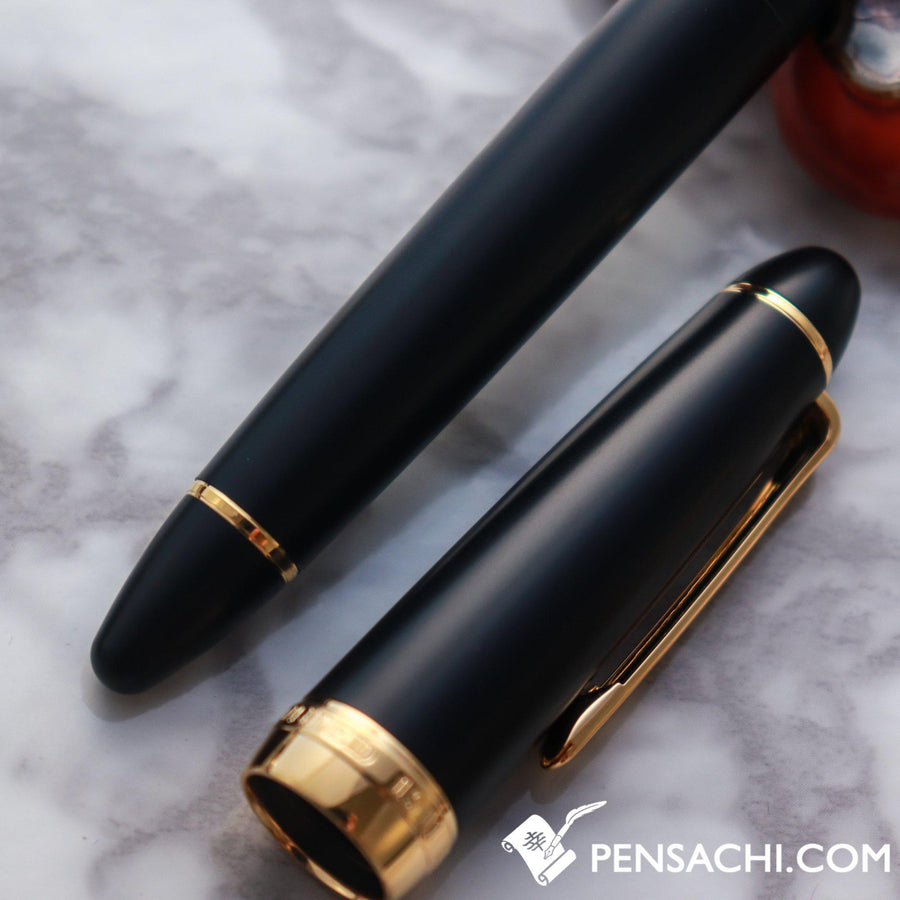 SAILOR 1911 Large Special Nib Old Design Naginata Fude de Mannen Fountain Pen - Matte Black - PenSachi Japanese Limited Fountain Pen
