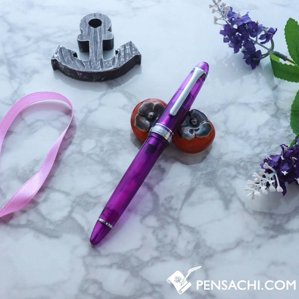 SAILOR Limited Edition 1911 Standard (Mid size) Demonstrator Fountain Pen - Wisteria Purple - PenSachi Japanese Limited Fountain Pen