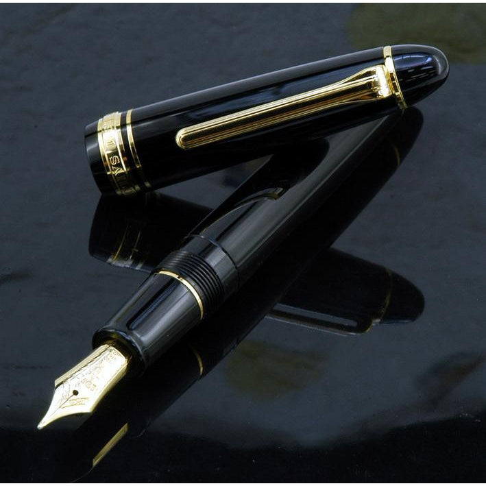 SAILOR Profit 21 Naginata Togi Gold Trim 21K Gold Naginata Togi Nib Fountain Pen - Black