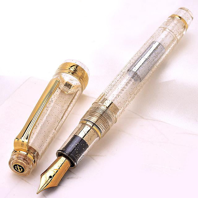SAILOR Limited Edition Pro Gear Slim (Sapporo) Demonstrator Fountain Pen - Sparkling Clear Transparent - PenSachi Japanese Limited Fountain Pen