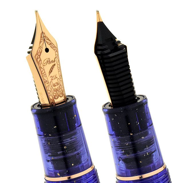 SAILOR LE Professional Gear Classic Realo Demonstrator Fountain Pen - Sparkling Dark Blue - PenSachi Japanese Limited Fountain Pen