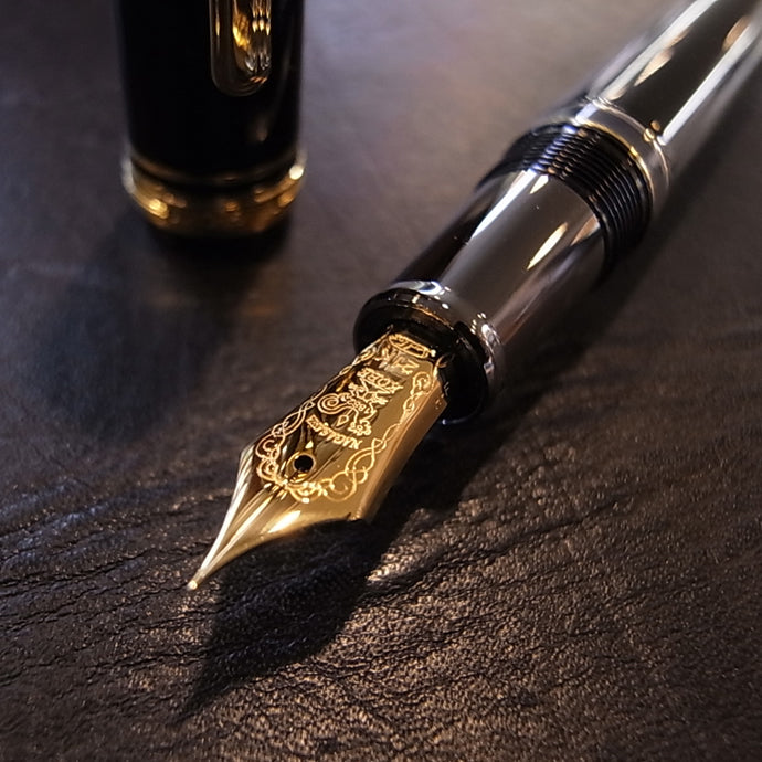 Sailor Limited Edition Profit FL Realo Gold Accents 21K Gold nib Fountain Pen - Black