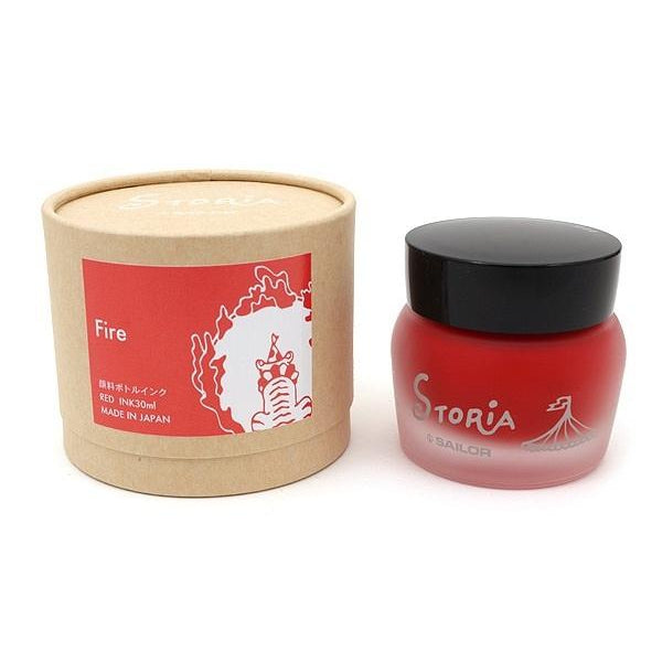 SAILOR Storia Ink - Fire Red - 30 ml - PenSachi Japanese Limited Fountain Pen