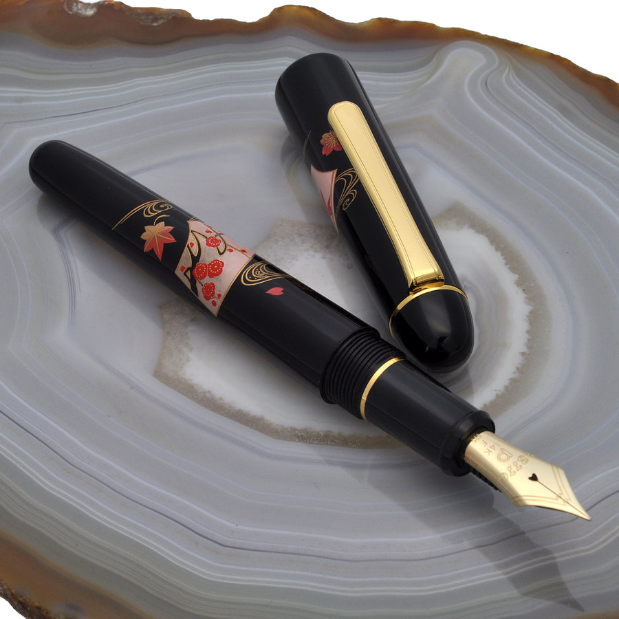 Platinum #3776 Kaga Hira Maki-e Fountain Pen - Senmen - PenSachi Japanese Limited Fountain Pen