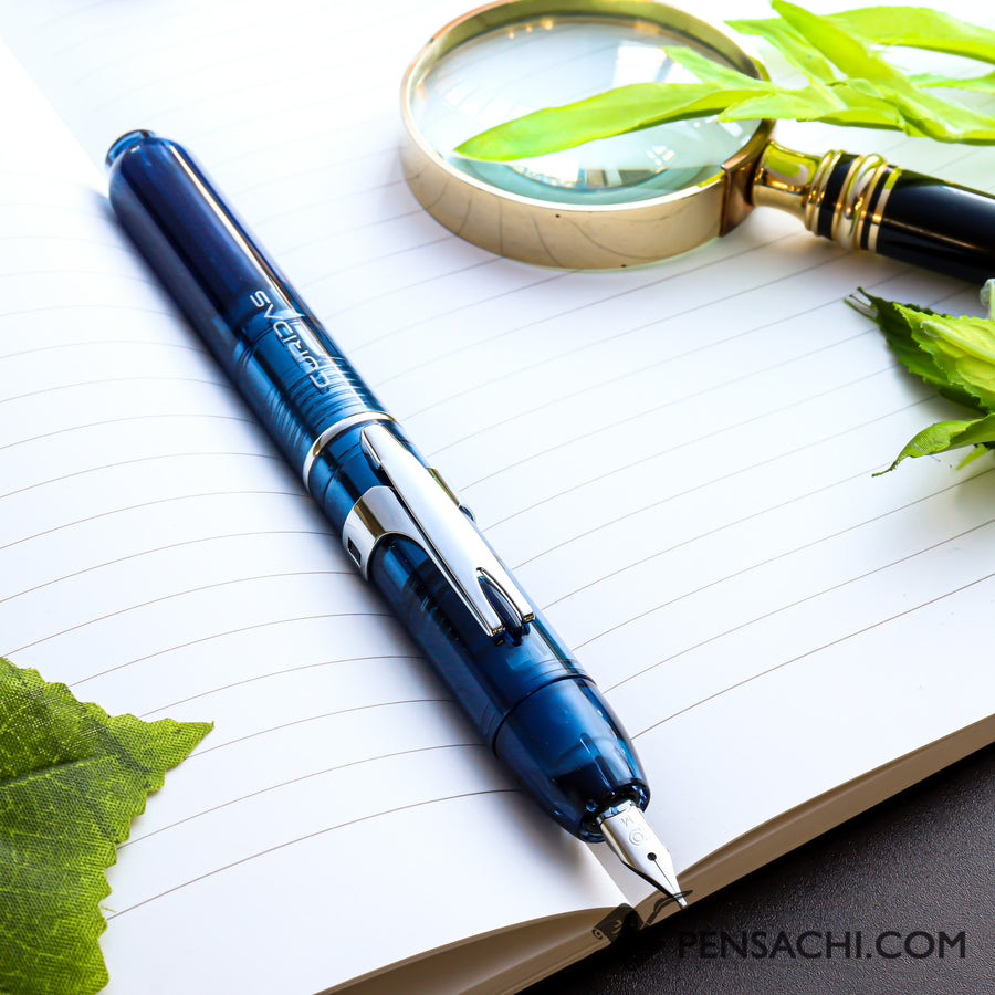 PLATINUM Curidas Demonstrator Fountain Pen - Abyss Blue - PenSachi Japanese Limited Fountain Pen