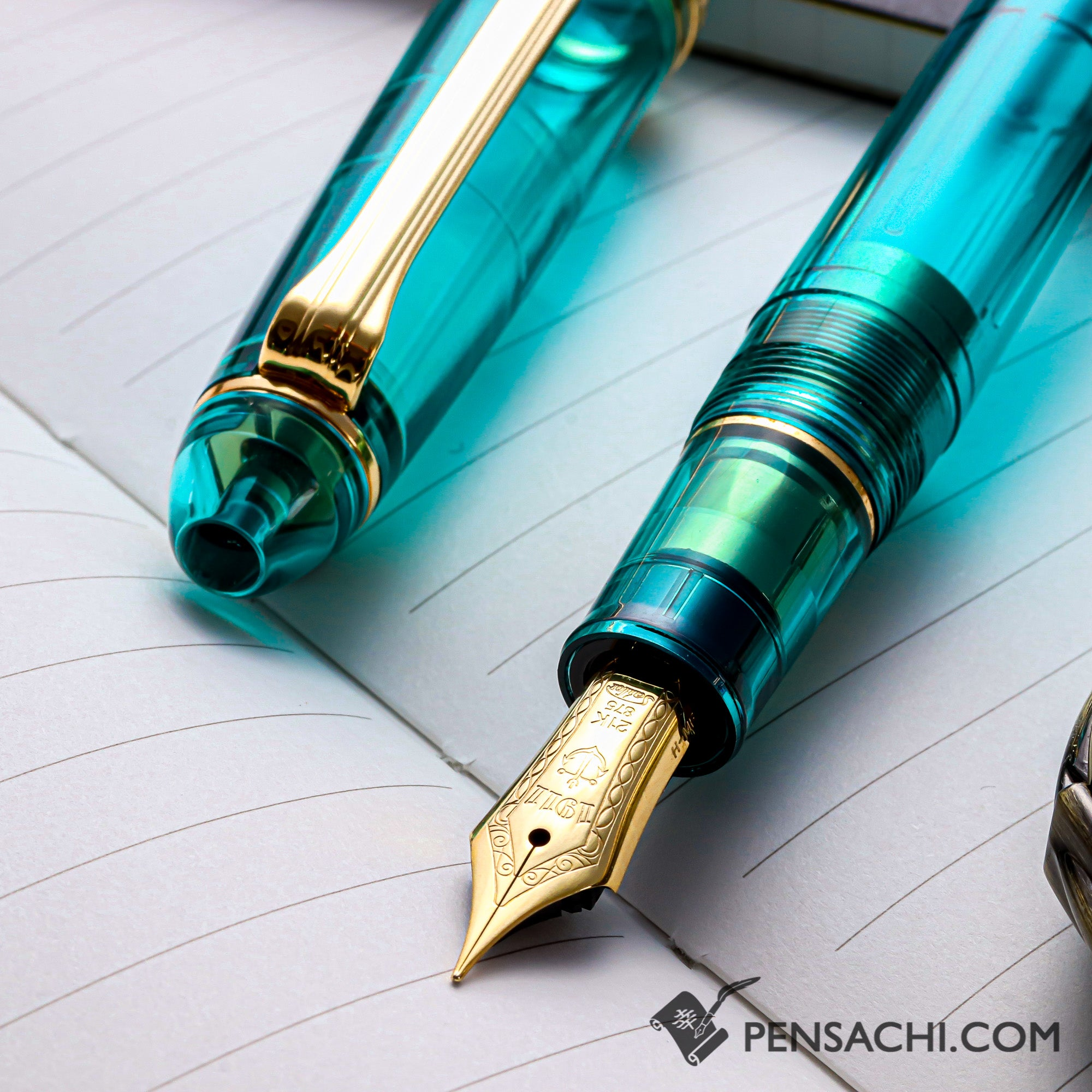 SAILOR Limited Edition Pro Gear Classic Demonstrator Fountain Pen - Teal Green - PenSachi Japanese Limited Fountain Pen