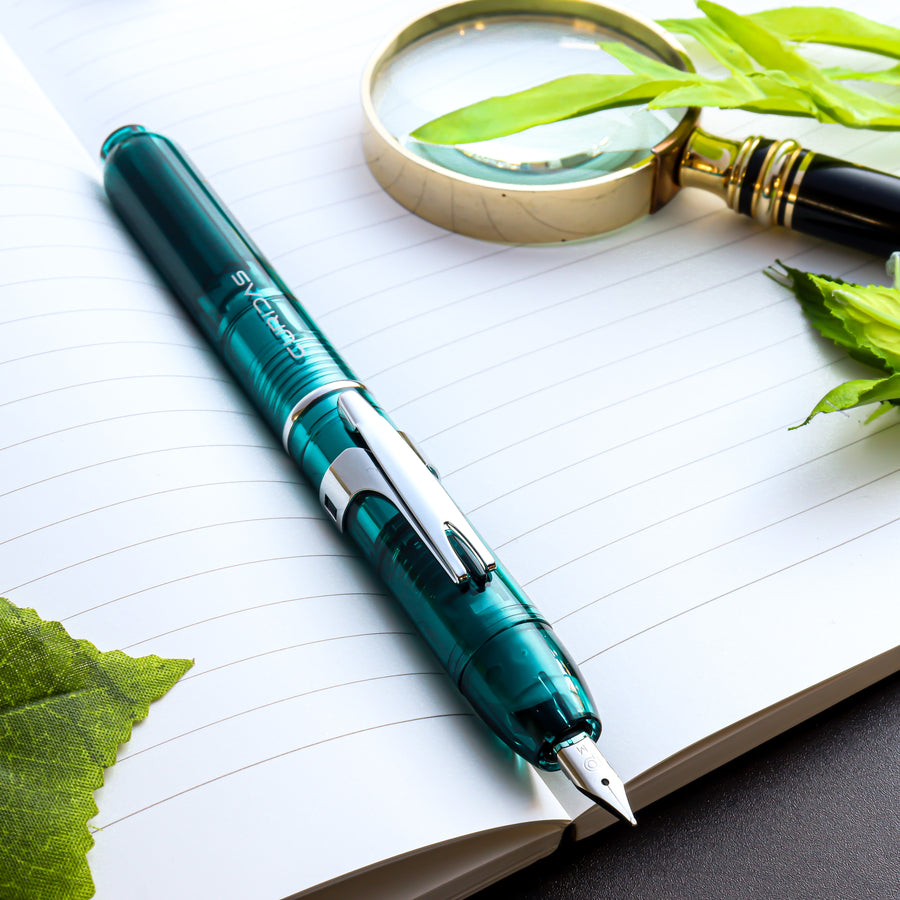 SAILOR Limited Edition Pro Gear Classic Demonstrator Fountain Pen - Turquoise Blue - PenSachi Japanese Limited Fountain Pen