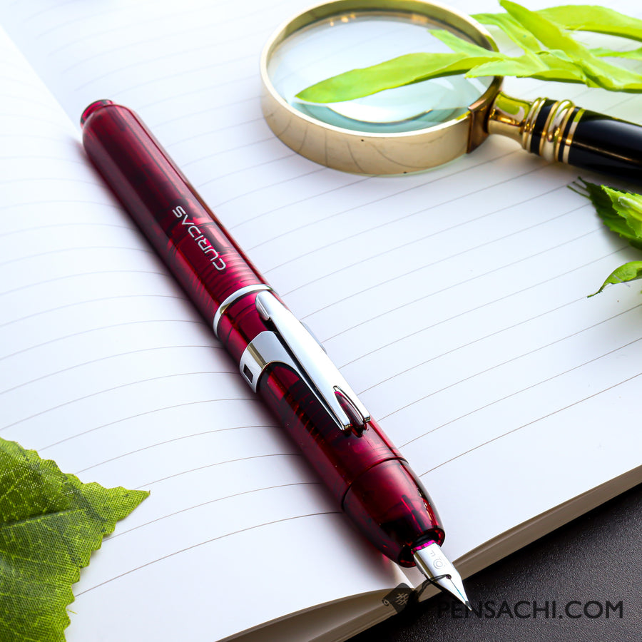 PLATINUM Curidas Demonstrator Fountain Pen - Gran Red - PenSachi Japanese Limited Fountain Pen