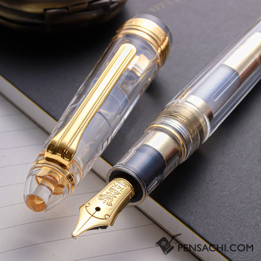 SAILOR Limited Edition 1911 Standard (Mid size) Demonstrator Fountain Pen - Skeleton Gold - PenSachi Japanese Limited Fountain Pen
