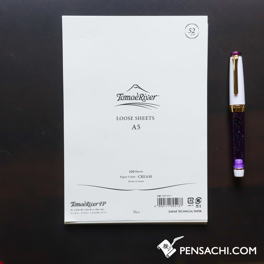 Tomoe River A5 Loose Sheet Paper (100 Sheets) - Cream Plain - PenSachi Japanese Limited Fountain Pen