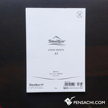 Tomoe River A5 Loose Leaf Paper (100 Sheets) - White Plain - PenSachi Japanese Limited Fountain Pen