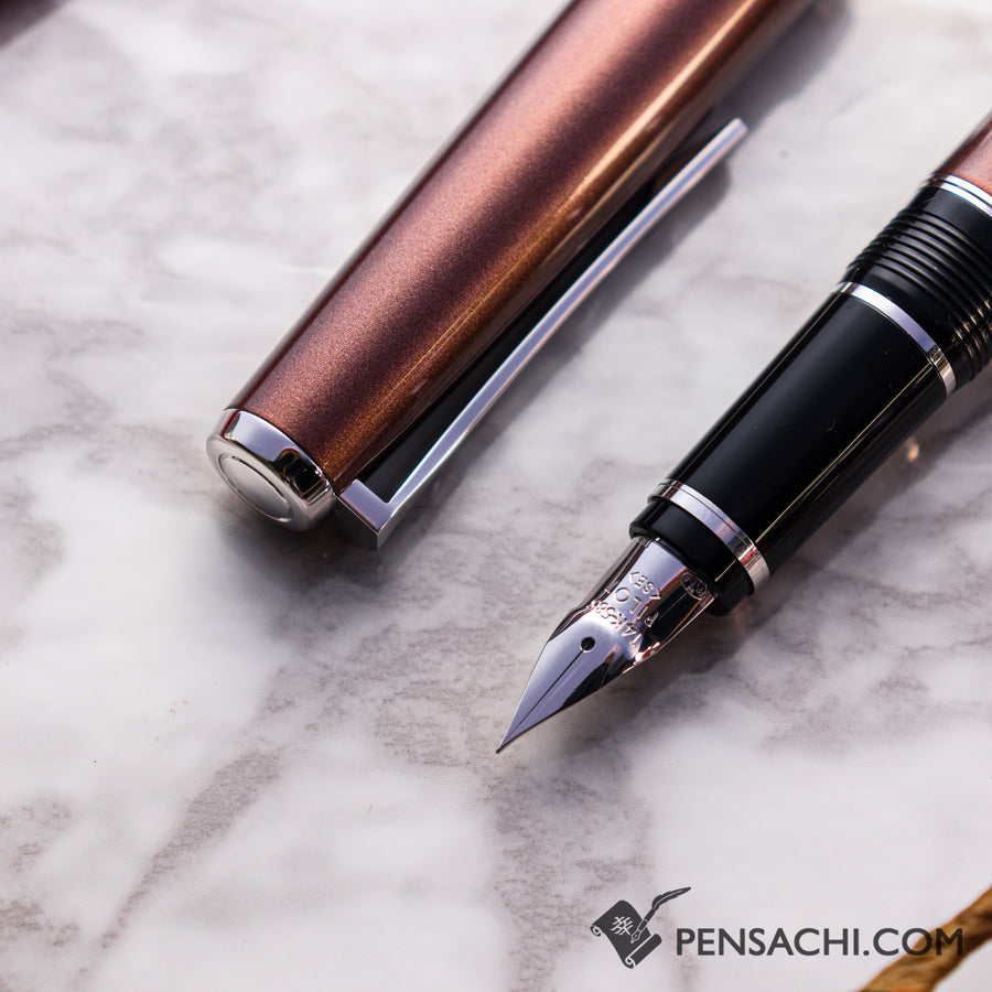 PILOT Falcon Elabo Metal Fountain Pen - Brown - PenSachi Japanese Limited Fountain Pen