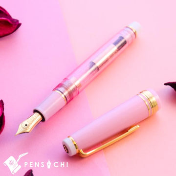 SAILOR Limited Edition Pro Gear Slim (Sapporo) Fountain Pen - Sparkling Rose - PenSachi Japanese Limited Fountain Pen