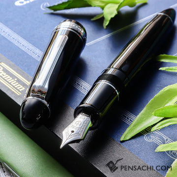 SAILOR 1911 Large (Full size) Fountain Pen - Black Silver