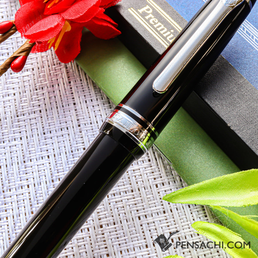 SAILOR Promenade Fountain Pen - Black Silver - PenSachi Japanese Limited Fountain Pen