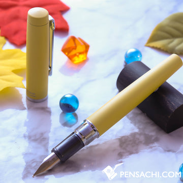 PLATINUM Procyon Fountain Pen - Citron Yellow - PenSachi Japanese Limited Fountain Pen