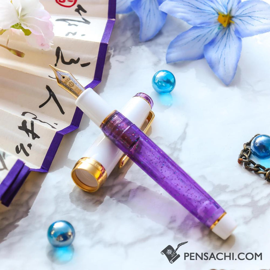 SAILOR Limited Edition Pro Gear Classic Demonstrator Fountain Pen - Sparkling Royal Purple - PenSachi Japanese Limited Fountain Pen