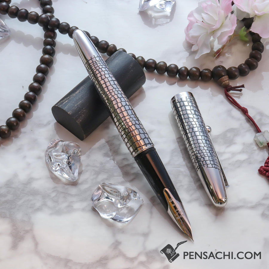 PILOT Silvern Sterling Silver Fountain Pen - Pavement - PenSachi Japanese Limited Fountain Pen