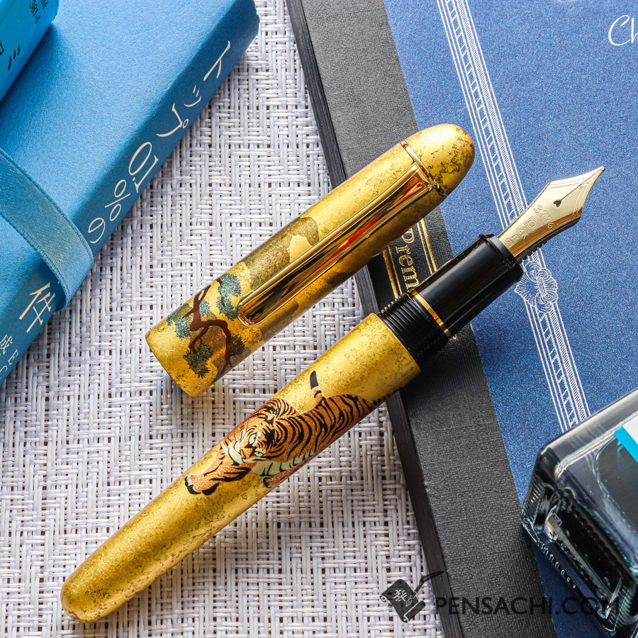 PLATINUM #3776 Century Kanazawa Haku Fountain Pen - Matsutora - PenSachi Japanese Limited Fountain Pen