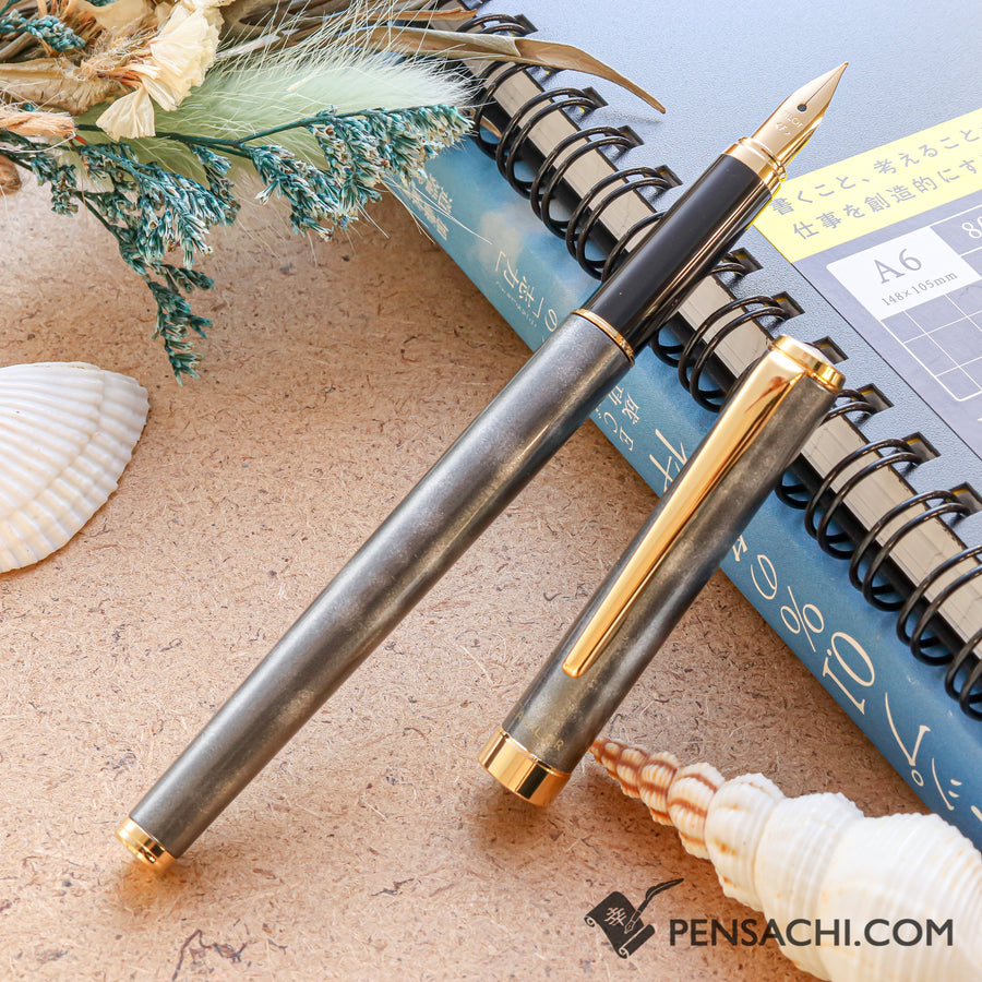 PILOT Cavalier Fountain Pen - Marble Gray - PenSachi Japanese Limited Fountain Pen