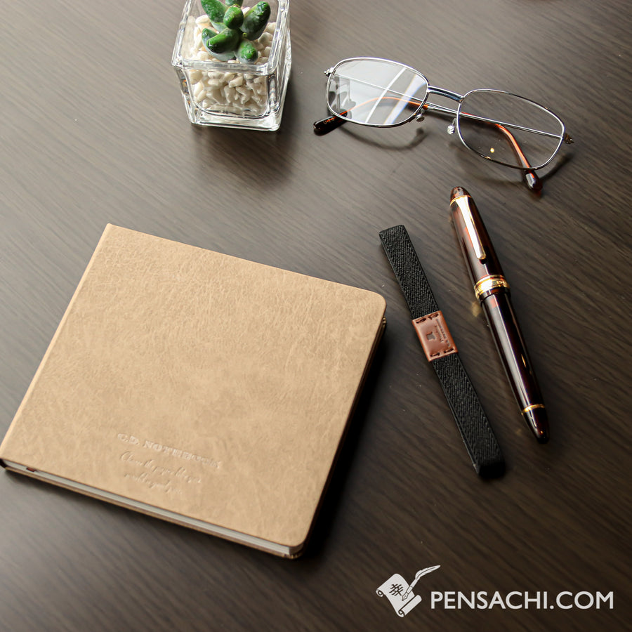 Premium C.D. Notebook Brown - Blank - PenSachi Japanese Limited Fountain Pen