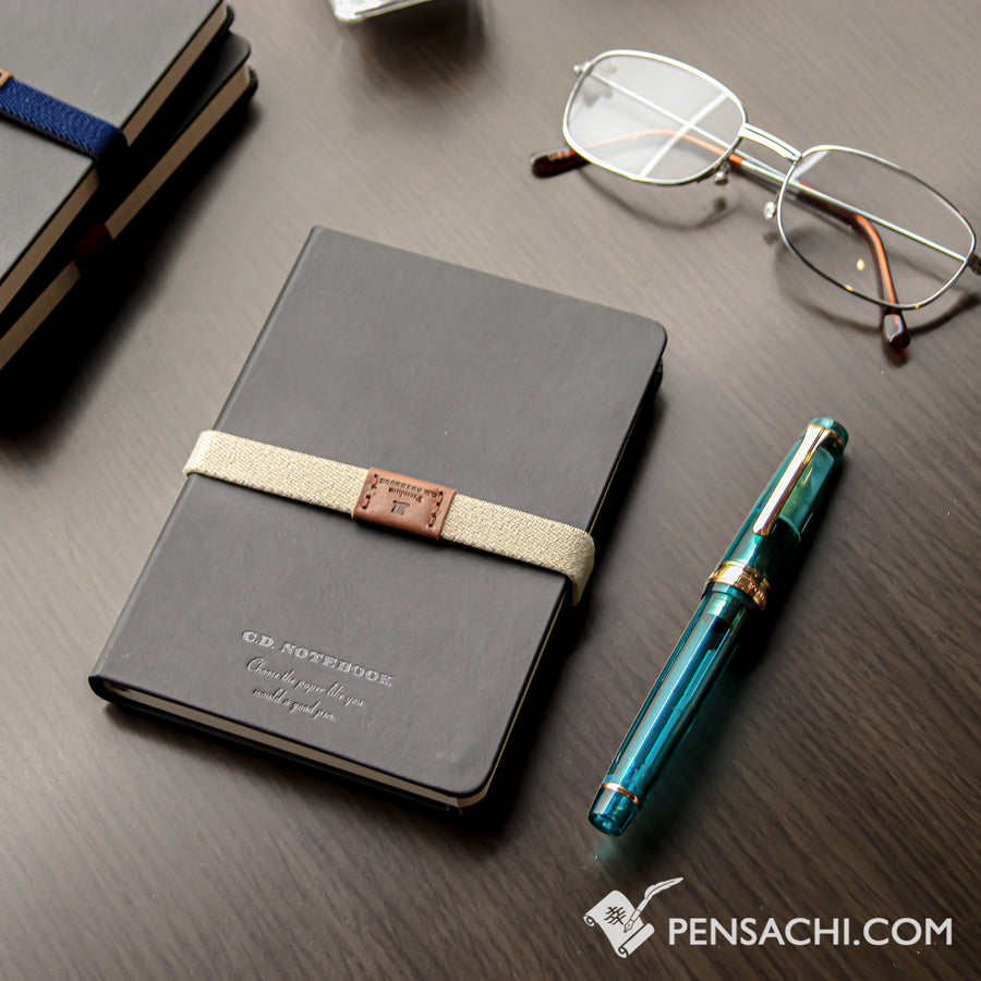 Premium C.D. Notebook A6 Black - Blank - PenSachi Japanese Limited Fountain Pen