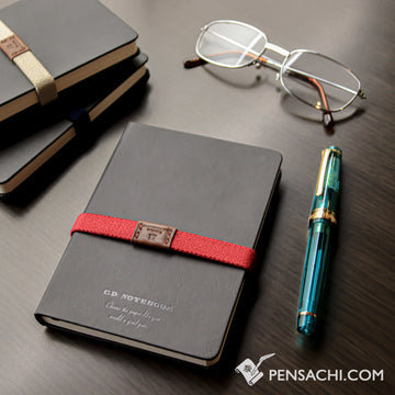 Premium C.D. Notebook A6 Black -  5 mm Graph - PenSachi Japanese Limited Fountain Pen