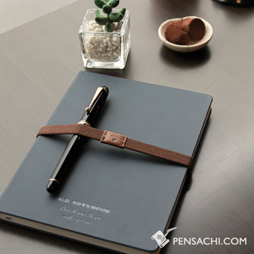 Premium C.D. Notebook A5 Navy Blue -  Ruled - PenSachi Japanese Limited Fountain Pen
